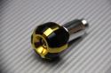 Pair of bi-chromic anodized handlebar ends