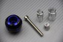 Pareja de contrapesos de manillar en aluminio anodizado bi-color