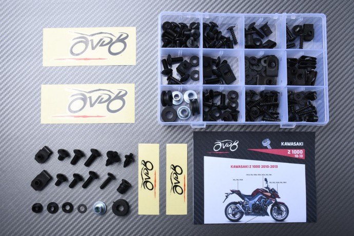 Specific hardware kit for fairings AVDB KAWASAKI Z1000 2010 - 2013