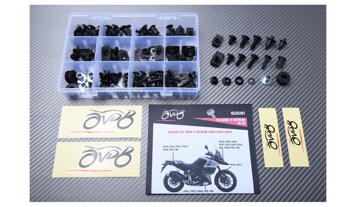 10 St M 5 x 25 Windschild Motorrad Alu Verkleidungsschrauben für Suzuki DL 1000