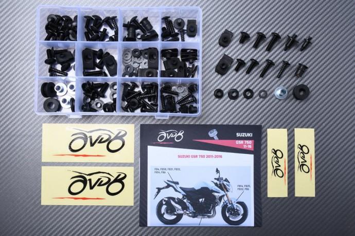 Specific hardware kit for fairings AVDB SUZUKI GSR 750 2011 - 2016