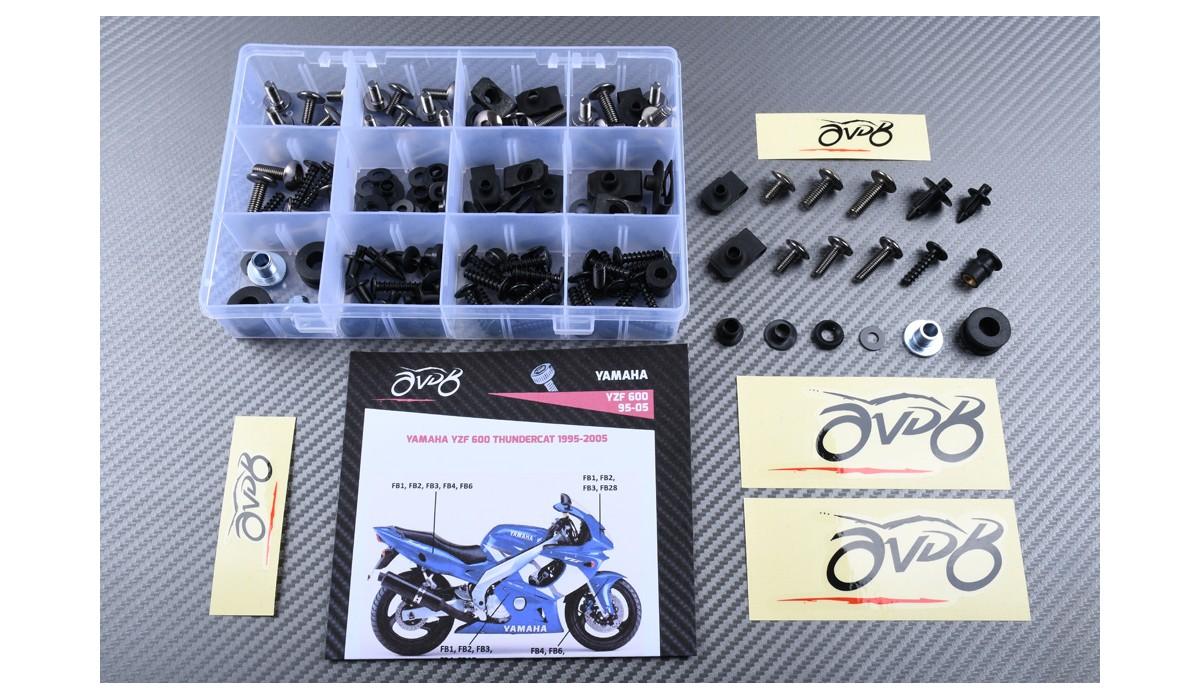 LoveMoto Jeux de visserie complets pour car/énages moto pour YZF-600 YZF 600 R6 06 07 YZF600 R6 2006 2007 Agrafes de fixation pour vis alu Dor Argent