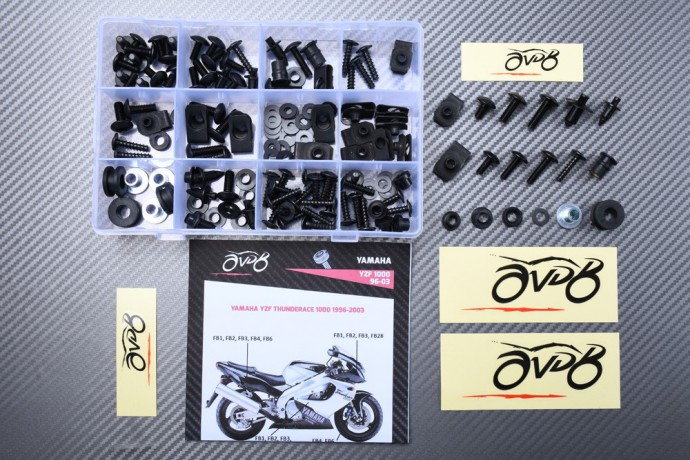 Specific hardware kit for fairings AVDB YAMAHA YZF THUNDERACE 1000 1996 - 2003
