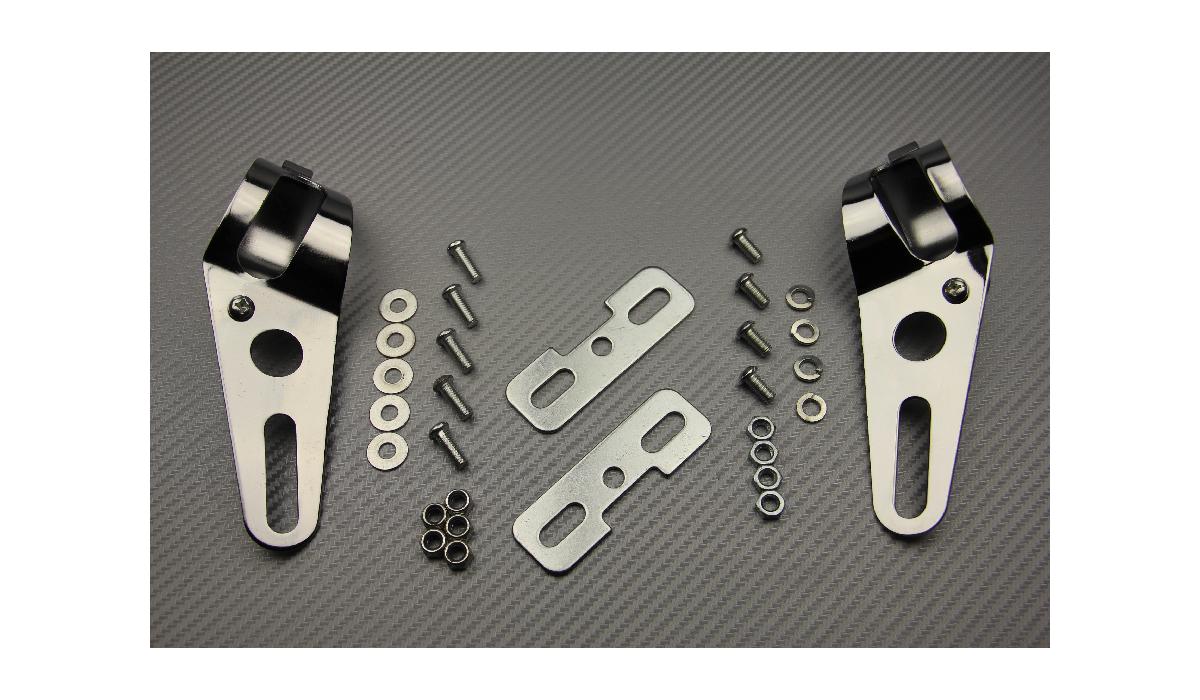 pattes de fixation universelles pour phare rond avdb moto l 39 accessoire prix motard. Black Bedroom Furniture Sets. Home Design Ideas