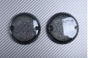 Pair of Front Turn Signals Lenses for many customs YAMAHA