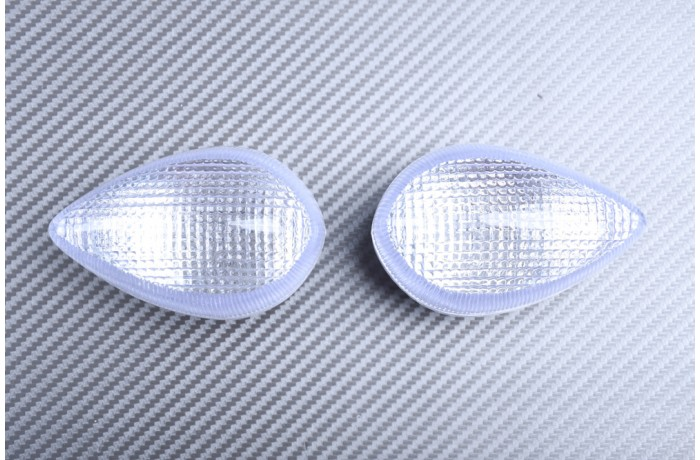 Pair of Front Turn Signals Lenses YAMAHA YZF R1 2007 - 2014 / R6 2006 - 2016 / R3 / FZ8 / FAZER 800 / XJ6 / VMAX 1700