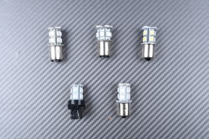 Coppia di lampadine a LED a base per indicatori di direzione (13 LED)