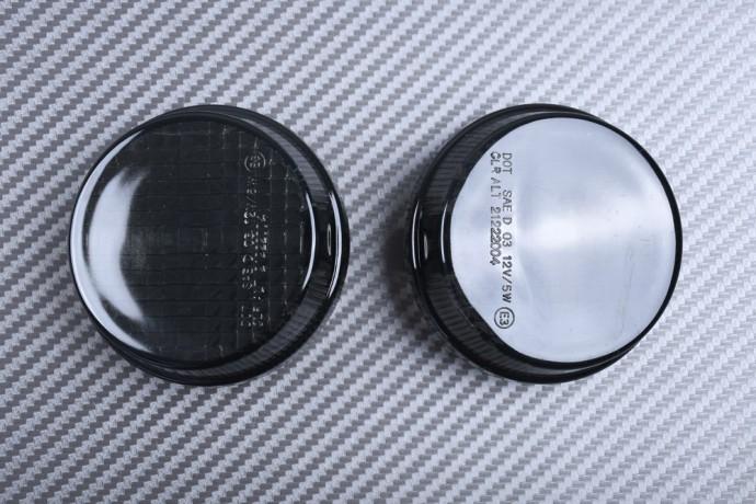 Pair of Front Turn Signals Lenses KAWASAKI VULCAN VN 1600 2003 - 2006 / VN 2000 2004 - 2010