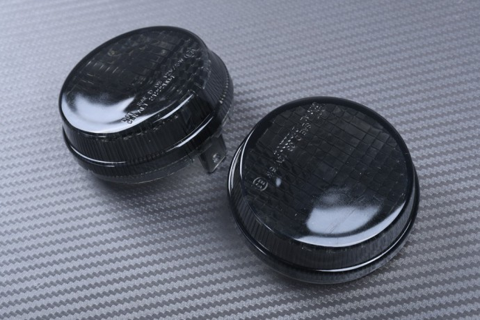 Pair of Front Turn Signals Lenses for many CUSTOM HONDA