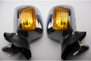 Pair of Aftermarket Rearview Mirrors with Integrated Turn Signals for HONDA GOLD WING 1800