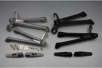 Supporto pedana posteriore SUZUKI GSXR 600 750 11 / 16 & GSXR 1000 07 / 16  scarico semplice