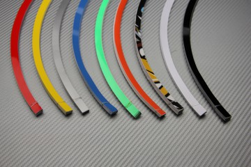 Universal adhesive rim wheel stripes