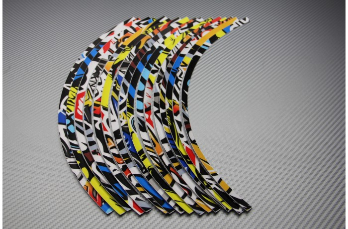 Stickers de llantas universales Racing - Modelo 2