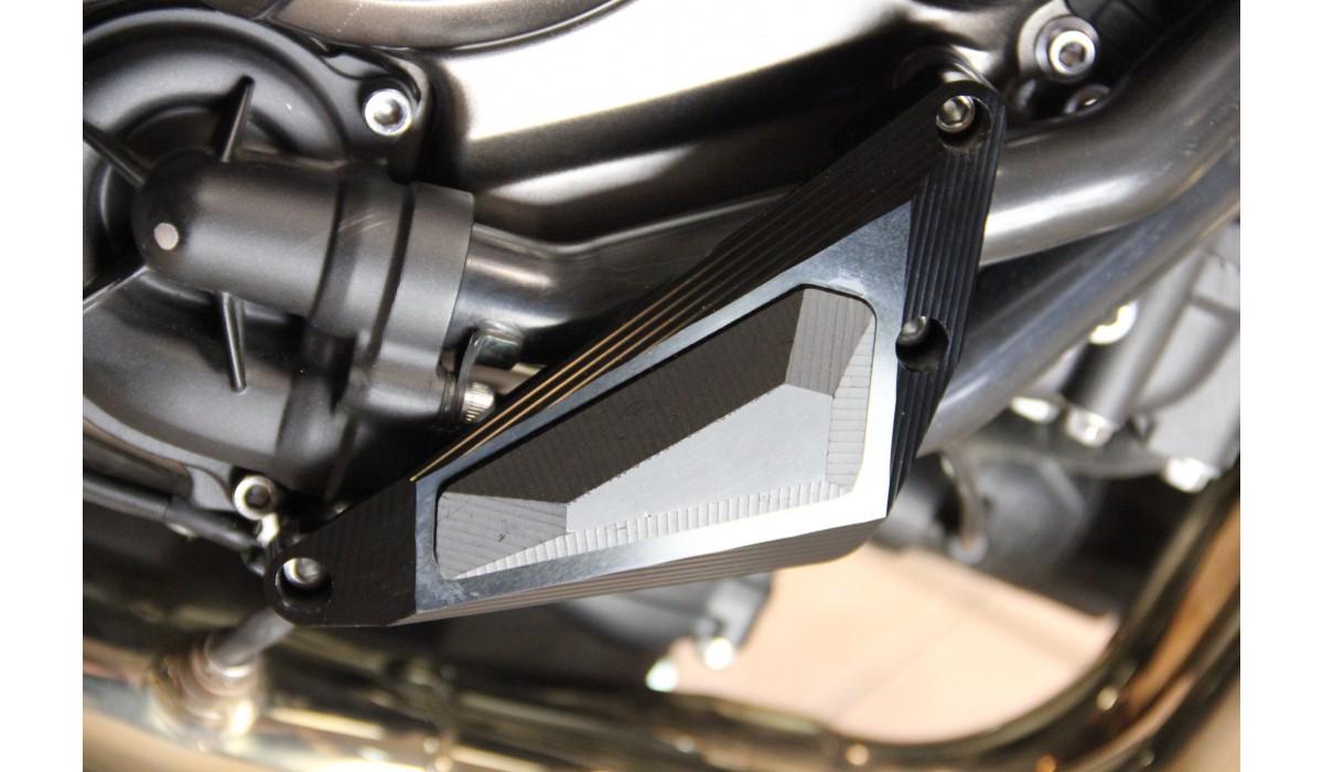 tampons de protection carters moteur yamaha mt07 xsr 700 avdb moto l 39 accessoire prix motard. Black Bedroom Furniture Sets. Home Design Ideas