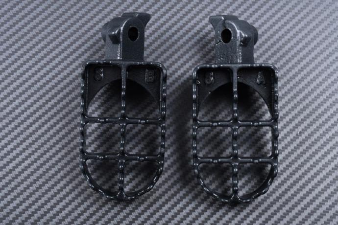 Pair of dirtbike footrests HONDA XR & CRF 50 / 70 / 80 / 100 / 150 R / F 1985 - 2009
