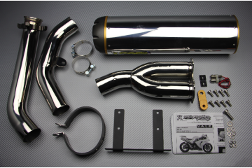Slip On Exhaust KAWASAKI ZX10R 2006 - 2007 TWO BROTHERS Stainless Steel / Magnesium