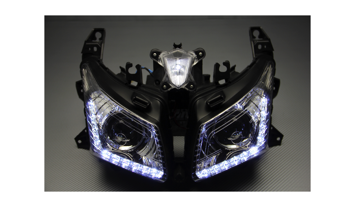 front headlight led yamaha tmax 530 12 14. Black Bedroom Furniture Sets. Home Design Ideas