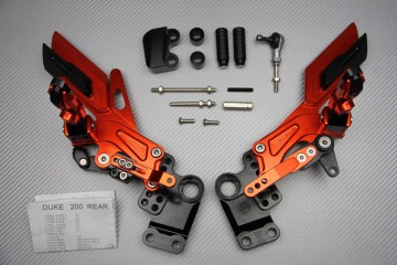 Pedane arretrate regolabili per KTM Duke 125 200 390