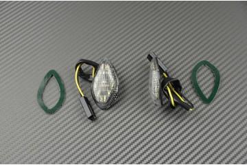 Coppia di indicatori di direzione anteriori per Honda CBR 600 F, F4, FS