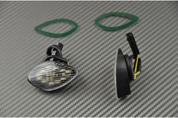 Paire de clignotants avant LED goutte d'eau Honda CBR 600RR 03/14 et 1000RR 04/07