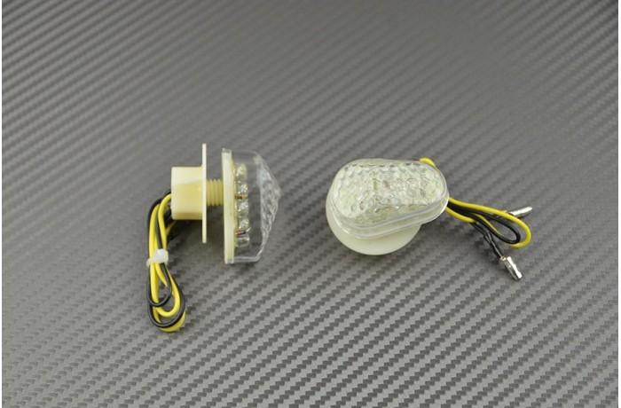 Paire de clignotants avant goutte d'eau Yamaha R1 02/14 &  R6 03/16