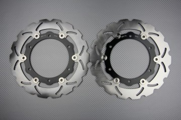 Pair of front brake discs 267 mm for YAMAHA TMAX 2008-2011