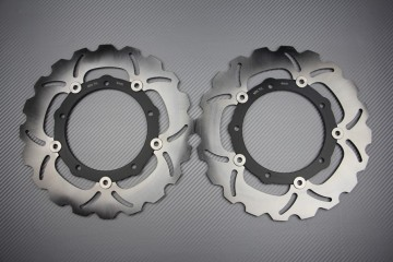 Pair of front brake discs 282 mm for Yamaha MT07 / TRACER / XSR / TENERE 700 2014-2020