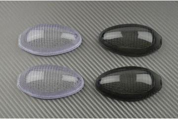 Pair of Front Turn Signals Lenses Ducati Monster