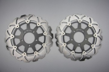Pair of front brake discs 290 mm for Suzuki GSXF KATANA 600 750 2004-06 SV 650 S N 2003-09