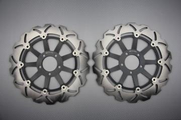 Pair of front Wave brake discs 320 mm many KAWASAKI