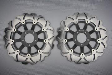 Pair of front Wave brake discs 310 mm many KAWASAKI before 2000