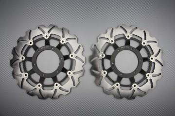 Paar wave Bremsscheiben 296mm Honda CBR 600 F FI FS / Hornet 900 / CBF 600 1000