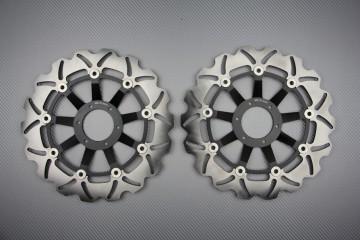 Paar Bremsscheiben wellig für mehrere Honda