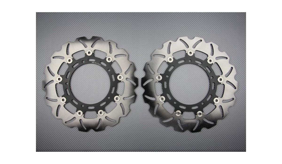 Pair of front brake discs 310 mm Yamaha R6 05 / 19 R1 07 / 19 , FZ8 FAZER  800 , XTZ 1200