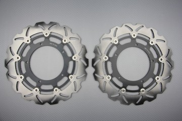 Pair of front brake discs 320 mm for Yamaha R1 2004-06 FAZER 1000 FZ1 2006-14