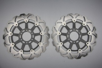 Pair of front Wave brake discs 298 mm APRILIA CAGIVA MOTO MORINI