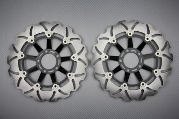 Pair of front brake discs 310 mm for SUZUKI GSXR 1100 1986-1988
