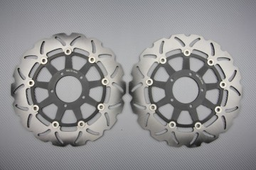 Pair of front brake discs 305 mm for many Ducati Hypermotard