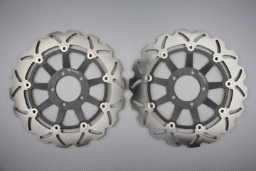 Pair of front brake discs 320 mm for many Ducati
