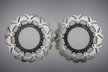 Pair of front brake discs 300 mm for many Aprilia Caponord