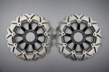 Pair of front brake discs 296 mm for HONDA CB400 & CB HORNET 600 1998-1999