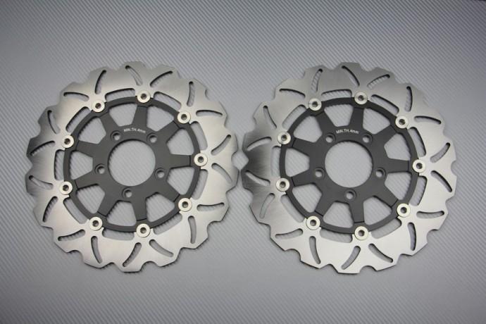 TARAZON 2x Disques de Frein Avant Moto pour S.U.Z.U.K.I DL 650 1000 V-Strom//SV 1000 S 2003-2007// SV-S VS 1000// Kawasaki KLV 1000 2004 2005 2006 2007