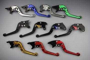 Verstellbarer und klappbarer Bremshebel viele Aprilia, Buell, Kawasaki, Suzuki, Triumph, Yamaha