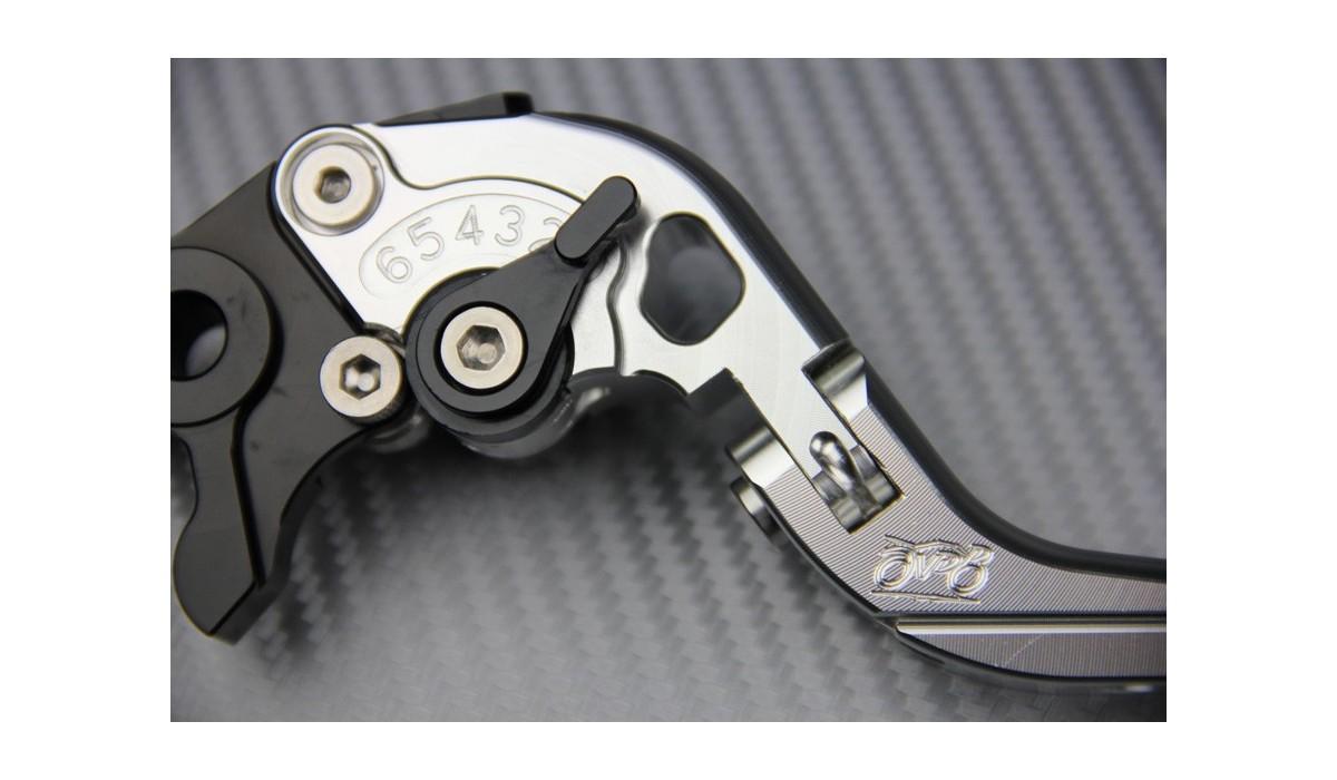 r/églable pour moto de frein dembrayage leviers pour Suzuki SV650 1999 2000 2001 2002 2003 2004 2005 2006 2007 2008 2009