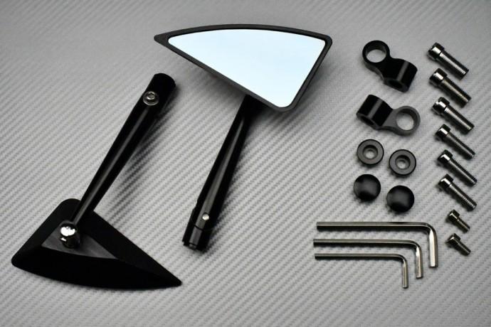 Pareja de Retrovisores de Aluminio - Modelo Triangular