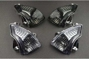 Pair of front turn signals Kawasaki ER6 2009 / 2011