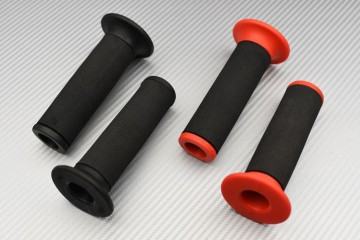 Pair of handles alu and rubber 22 / 24mm