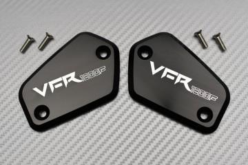 Paar von Bremse und Kupplung Flüssigkeitsbehälter-Kappen HONDA VFR 1200