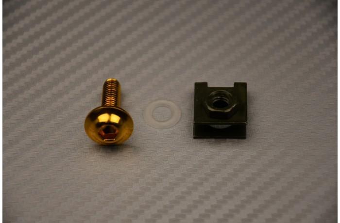 Vite + Madrevite metallica con fissaggio sul bordo