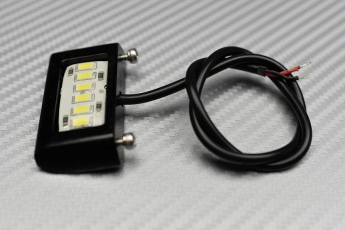 Luz de matrícula 6 LED sin roscas